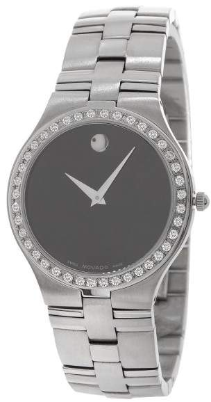Movado Juro 0605023 Stainless Steel 1.50ct Diamond Bezel Quartz 36mm Mens Watch