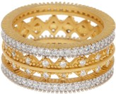 Freida Rothman Harlequin Crystal Embellished Ring Set