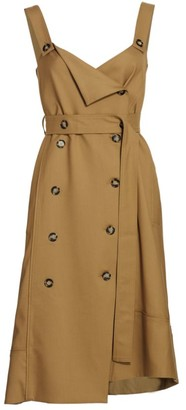 Proenza Schouler White Label Sleeveless Stretch Suiting Trench Dress