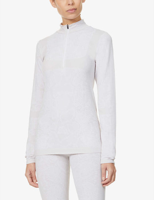 Varley Catalina half-zip stretch-woven thermal top