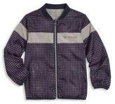 Armani Junior Little Boy's & Boy's Signature Logo Zip-Front Jacket
