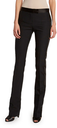 Tom Ford Tuxedo-Striped Wool-Silk Slim Pants