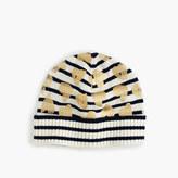 J.Crew Girls' striped metallic heart beanie hat