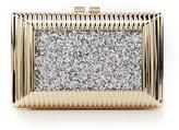 Kate Landry Metal Glitter Frame clutch
