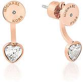 Michael Kors Cubic Zirconia Heart Front/Back Earrings