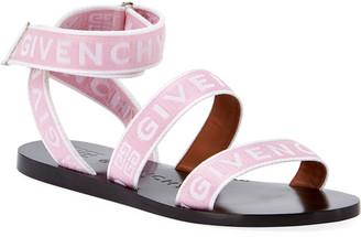 Givenchy Logo Web Flat Sandals