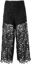 Alice + Olivia Alice+Olivia - cropped lace trousers - women - Polyester/Spandex/Elastane - 4