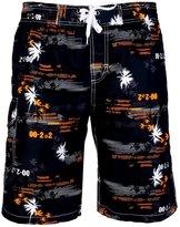 APTRO Men's Quick Dry Board Shorts Printed Palm Beach Swim Wear S
