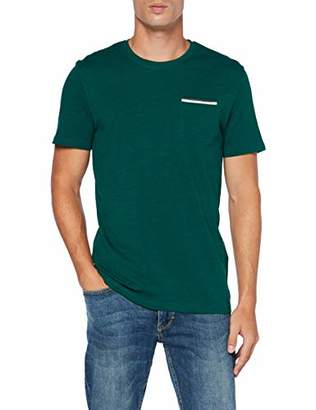 Tom Tailor Casual Men's Basic T-Shirt, (Fairway Green 10413), Large