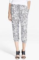 Haute Hippie Ditsy Leopard Print Silk Drawstring Pants