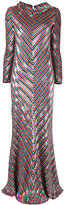 Ashish Chevron sequined gown