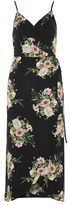 Topshop Strappy floral wrap dress