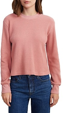 Velvet by Graham & Spencer Dakota Waffle Knit Cropped Sweater