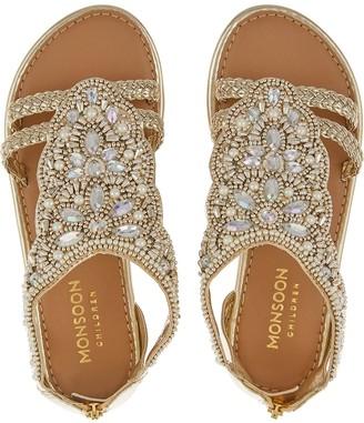 Monsoon Valencia Beaded Scallop Sandal - Gold