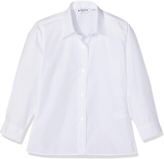 Trutex Girl's Nkb-wht School Top