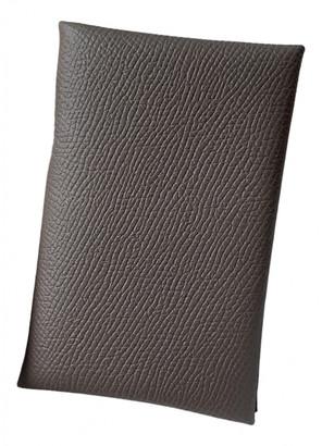 Hermã ̈S HermAs Calvi Grey Leather Purses, wallets & cases