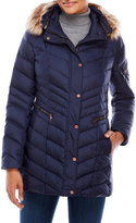 Andrew Marc Faux Fur Trim Down Puffer Jacket