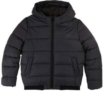 BOSS Boys Hooded Padded Coat - Charcoal