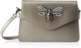 Chicca Borse Women's CBS178484-529 Shoulder Bag Grey Grey (grigio grigio)