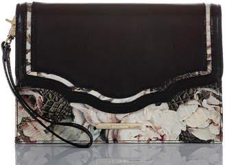 Brahmin Sarah Floral Leather Clutch