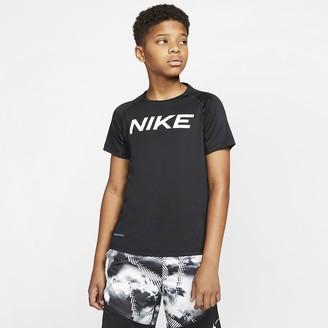 Nike Big Kids (Boys) Short-Sleeve Training Top Pro