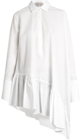 Palmer Harding PALMER/HARDING Asymmetric ruffled-hem cotton shirt