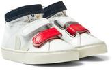 Veja Extra White Esplar Mid Small Velcro Tricolor Velcro