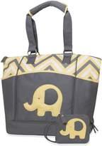 Baby Essentials Elephant Porta-Bed Diaper Bag - Zig Zag Yellow by