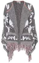 See by Chloe Fringed cotton-blend cardigan