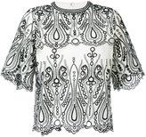 IRO embroidered T-shirt - women - Cotton/Polyester - 36