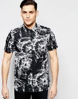 Antony Morato Slim Short Sleeve Shirt With Broken Print