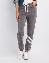 Charlotte Russe Striped-Leg Jogger Pants