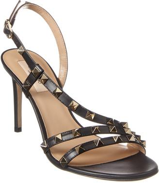 Valentino Rockstud 85 Leather Sandal
