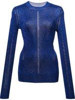 Christopher Kane lurex knitted top
