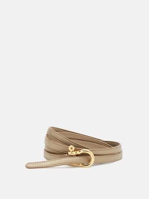 Diane von Furstenberg Milla Double-Wrap Mini Leather Belt