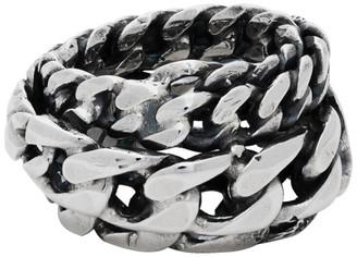 Emanuele Bicocchi Silver Spiral Chain Ring
