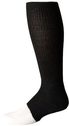 Thorlos Uniform White Toe Over Calf Single Pair (Black) Crew Cut Socks Shoes