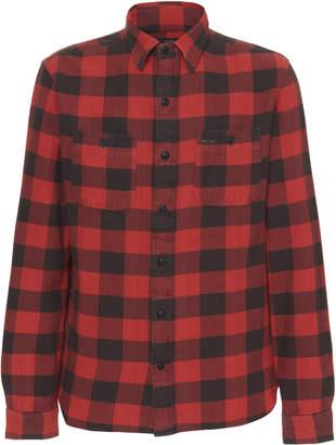 Ralph Lauren RRL Farrell Plaid Cotton-Flannel Shirt