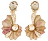 Alexis Bittar Crystal Encrusted Shell Clip-On Earrings