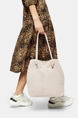 Topshop LIA Pink Leather Strap Tote Bag