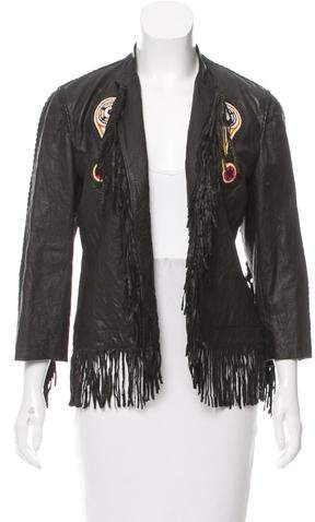 Trussardi Leather Embellished Jacket w/ Tags
