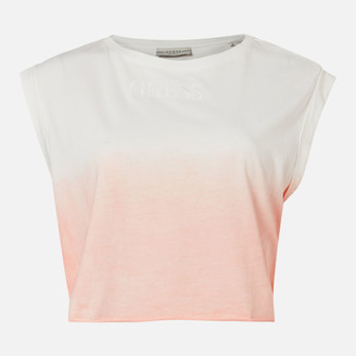 GUESS Women's Sleeveless CN Sunrise T-Shirt