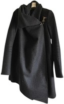 AllSaints Anthracite Wool Coat for Women