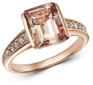 Bloomingdale's Morganite & Diamond Cocktail Ring in 14K Rose Gold - 100% Exclusive