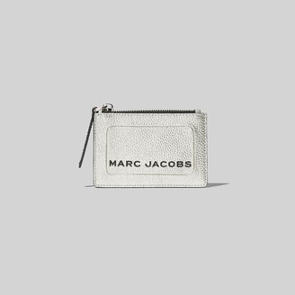 Marc Jacobs The Metallic Textured Box Top Zip Multi Wallet