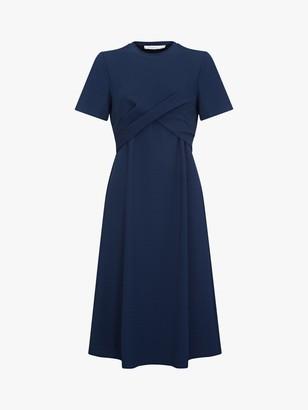 Finery Edis Gathered Bodice Dress, Navy