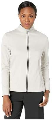 Callaway Waffle Fleece Heather Full Zip Jacket (High-Rise Heather) Women's Clothing