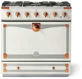 Williams-Sonoma Williams Sonoma Cornue Fe Albertine Dual-Fuel Range Stove, Pure White