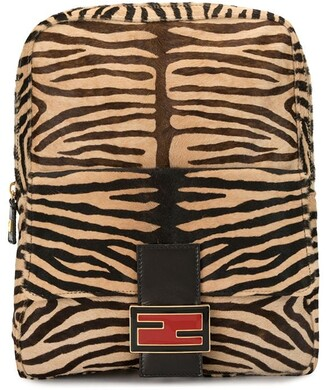Fendi Pre Owned tiger print Mamma Baguette backpack