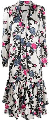 La DoubleJ Pussy Bow Blouse Floral Dress